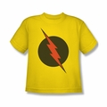 Justice League youth teen t-shirt Flash Reverse Flash Symbol yellow