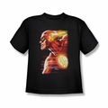 Justice League youth teen t-shirt Flash Speed Head black