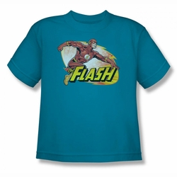 Justice League youth teen t-shirt Flash Zoom turquoise