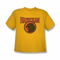 Justice League youth teen t-shirt Hawkman Rough Hawk gold