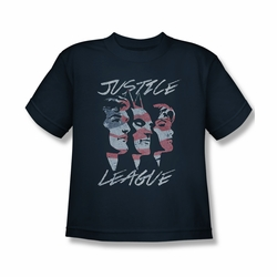Justice League youth teen t-shirt Justice For America Heroes navy