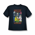 Justice League youth teen t-shirt Justice For America Villains navy
