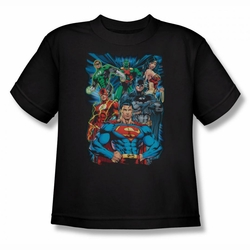 Justice League youth teen t-shirt Justice Is Served black