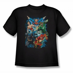 Justice League youth teen t-shirt Justice League Assemble black