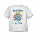 Justice League youth teen t-shirt Let's Do This white