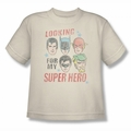 Justice League youth teen t-shirt My Super Hero cream