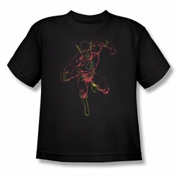 Justice League youth teen t-shirt Neon Flash black