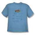 Justice League youth teen t-shirt On Call carolina blue