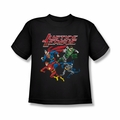 Justice League youth teen t-shirt Pixel League black