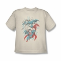 Justice League youth teen t-shirt Pop Group cream/ivory