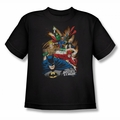 Justice League youth teen t-shirt Starburst black