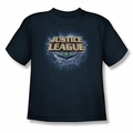 Justice League youth teen t-shirt Storm Logo navy
