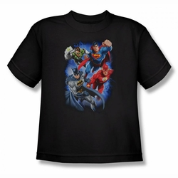 Justice League youth teen t-shirt Storm Makers black