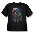 Justice League youth teen t-shirt The Four black