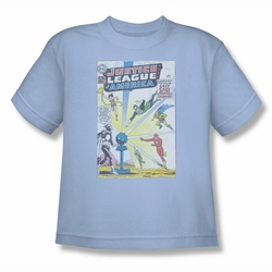 Justice League youth teen t-shirt Vintage Cover 12 light blue