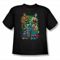 Justice League youth teen t-shirt Will Power black