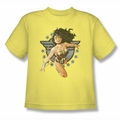 Justice League youth teen t-shirt Wonder Woman All Star banana