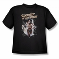 Justice League youth teen t-shirt Wonder Woman Break Out black
