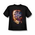 Justice League youth teen t-shirt Wonder Woman Wonder Rays black