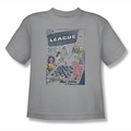 Justice League youth teen t-shirt World Of No Return silver