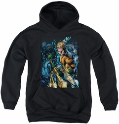 Justice League youth teen hoodie Aquaman #1 black