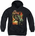 Justice League youth teen hoodie Green Arrow #1 black