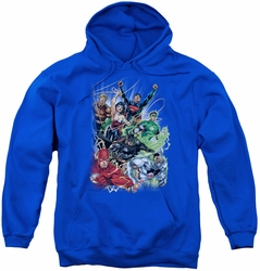 Justice League youth teen hoodie Justice League #1 royal blue