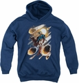 Justice League youth teen hoodie Supergirl #1 navy