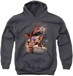 Justice League youth teen hoodie Teen Titans #1 charcoal