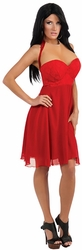 Jwoww Red Dress with Enhancements Jersey Shore adult costume