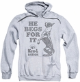 Ken L Ration pull-over hoodie Begs adult athletic heather