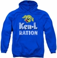 Ken L Ration pull-over hoodie Distressed Logo adult royal blue