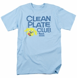 Ken L Ration t-shirt Clean Plate mens light blue