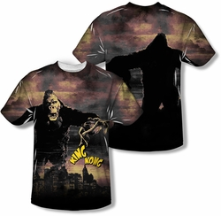 King Kong mens full sublimation t-shirt Kong In The City
