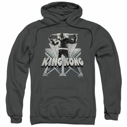 King Kong pull-over hoodie 8th Wonder adult charcoal