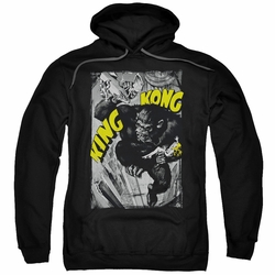 King Kong pull-over hoodie Crushing Poster adult black