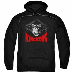 King Kong pull-over hoodie Kong Face adult black