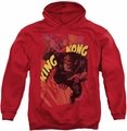 King Kong pull-over hoodie Plane Grab adult red