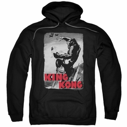 King Kong pull-over hoodie Planes Poster adult black