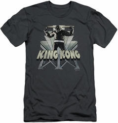 King Kong slim-fit t-shirt 8th Wonder mens charcoal