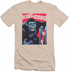 King Kong slim-fit t-shirt Bright Poster mens cream