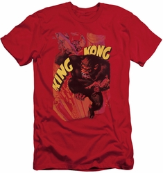 King Kong slim-fit t-shirt Plane Grab mens red