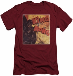 King Kong slim-fit t-shirt Primal Rage mens cardinal