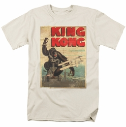 King Kong t-shirt Old Worn Poster mens cream
