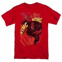 King Kong t-shirt Plane Grab mens red