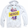 King of The Nerds pull-over hoodie Laser Guns adult white