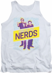 King of The Nerds tank top Laser Guns adult white