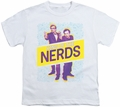 King of The Nerds youth teen t-shirt Laser Guns white