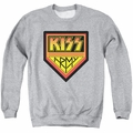 KISS adult crewneck sweatshirt Army Logo athletic heather