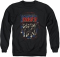 Kiss adult crewneck sweatshirt Destroyer black